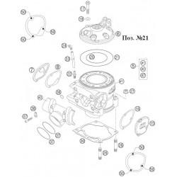 Уплотнение головки цилиндра оригинал KTM 300 EXC, O Ring 114.00x2.00мм, 0770114020
