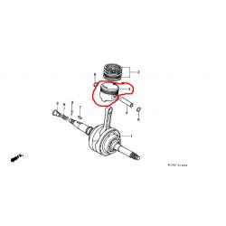 Поршень Honda CH 125, piston 13101-KV8-010