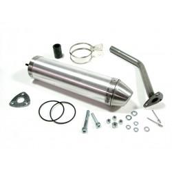 Глушитель трубы Giannelli для Aprilia RX50, Aluminium silencer 34604HF