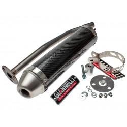 Глушитель трубы Giannelli для Enduro Derbi Senda R, Carbon fibre silencer 34631HF