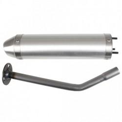 Глушитель трубы Giannelli для Enduro HM CRE Baja-Derapage, Aluminium silencer 34693HF