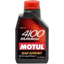 Двигательное масло для автомобилей Motul 4100 Multi Diesel 10W40, 381001, 1л