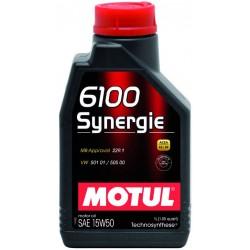 Двигательное масло для автомобилей Motul 6100 Synergie 15W50, 387101, 1л
