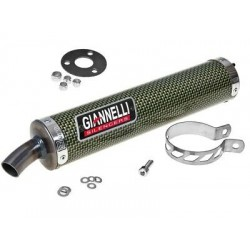 Глушитель трубы Giannelli для Derbi GPR125R- Nude 2T, Carbon fibre silencer 53502