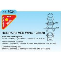 Подшипники рулевой колонки Buzzetti для Honda Silver Wing 125-150, Complete steering set 6034