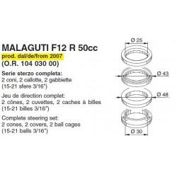 Подшипники рулевой колонки Buzzetti для scooter Malaguti F12 50, Complete steering set 6054
