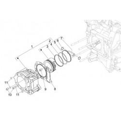 Кольца поршневые оригинал scooter Piaggio 250, 300, piston ring STD 874958, 874960, 876367