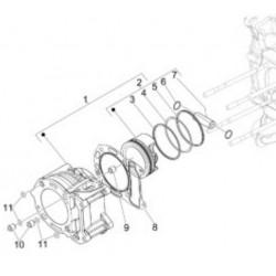 Кольца поршневые оригинал scooter Piaggio 300, piston ring STD B015159, B015160, B015161