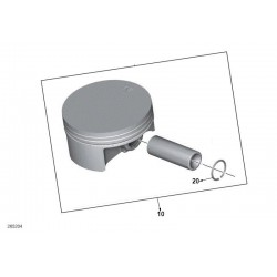 Поршень в комплекте оригинал std BMW c 600, 650, piston set 11257729568
