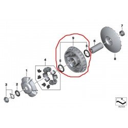 Корпус вариатора оригинал BMW C 600, C 650, Drive wheel 24818533609