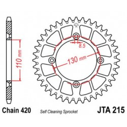 JT звезда задняя JTA215