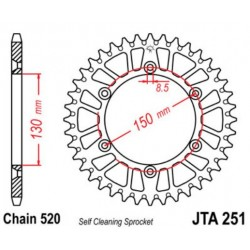 JT звезда задняя JTA251