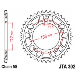 JT звезда задняя JTA302