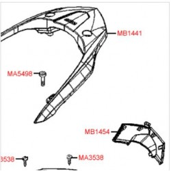 Кришка, Kymco  300i ABS Version 30 SK60AF // F12, Art.Nr: MB1454 83751-LEA7-E00-NEP