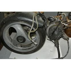 Двигательный блок с колесом, БУ для Piaggio 50, 2t, воздух