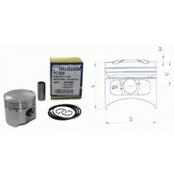 Поршень в комплекте Meteor scooter Piaggio 50 4t piston kit PC1828