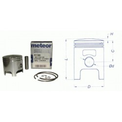 Поршень в комплекте Meteor scooter Polini - Suzuki - Derbi 50 2t piston kit PC1380
