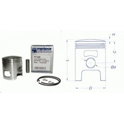 Поршень в комплекте Meteor scooter Malossi - Minarelli - Yamaha 50 2t piston kit PC1426 (346172)